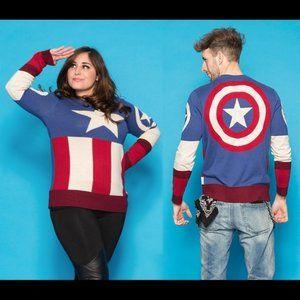 Marvel Captain America Knit Sweater- Unisex Fit